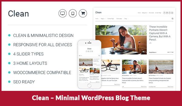 Clean – Minimal WordPress Blog Theme