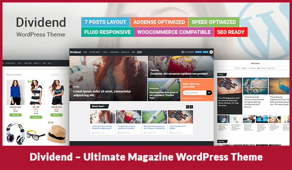 Dividend Ultimate Magazine WordPress Theme