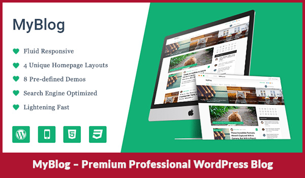 MyBlog – Premium Professional WordPress Blog