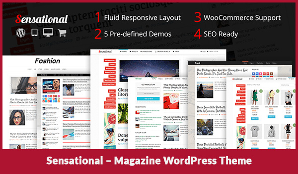 Sensational – Magazine WordPress Theme