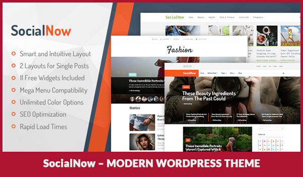 SocialNow – Modern WordPress Theme