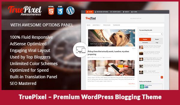 TruePixel – Premium WordPress Blogging Theme