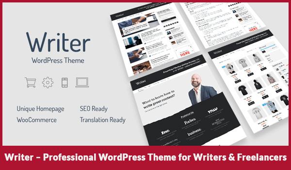 Writer Professional WordPress Theme for Writers & Freelancers